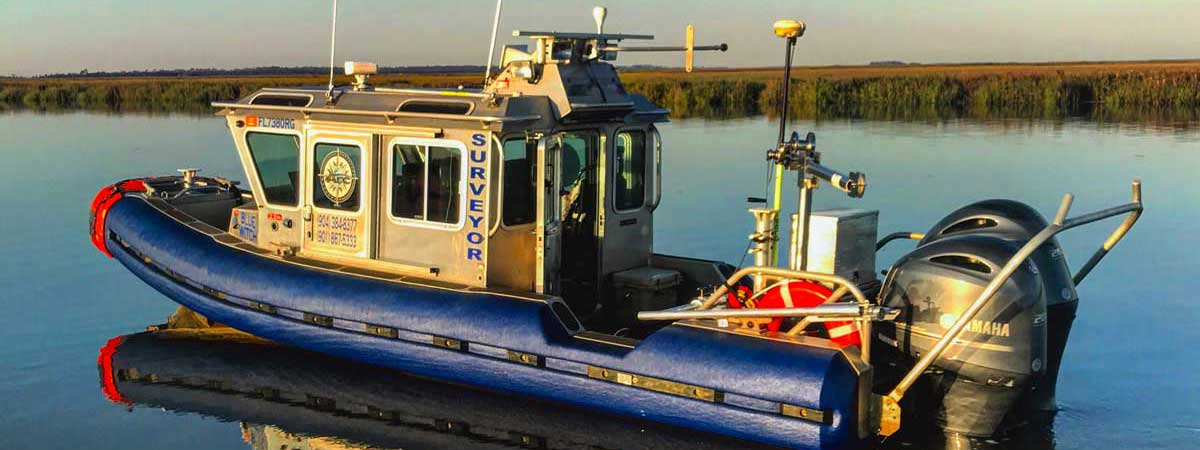 image of Arc Surveying and Mapping, Inc. hydrographic surveying boat