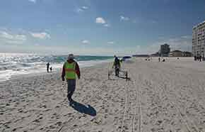 image of hydrographic beach surveys