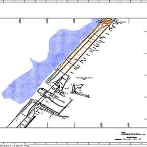 image of land surveying dike project