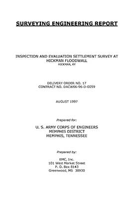 image of U.S. Army Corps of Engineers Projects surveying engineering report